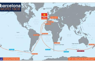 Mapa barcelona world race